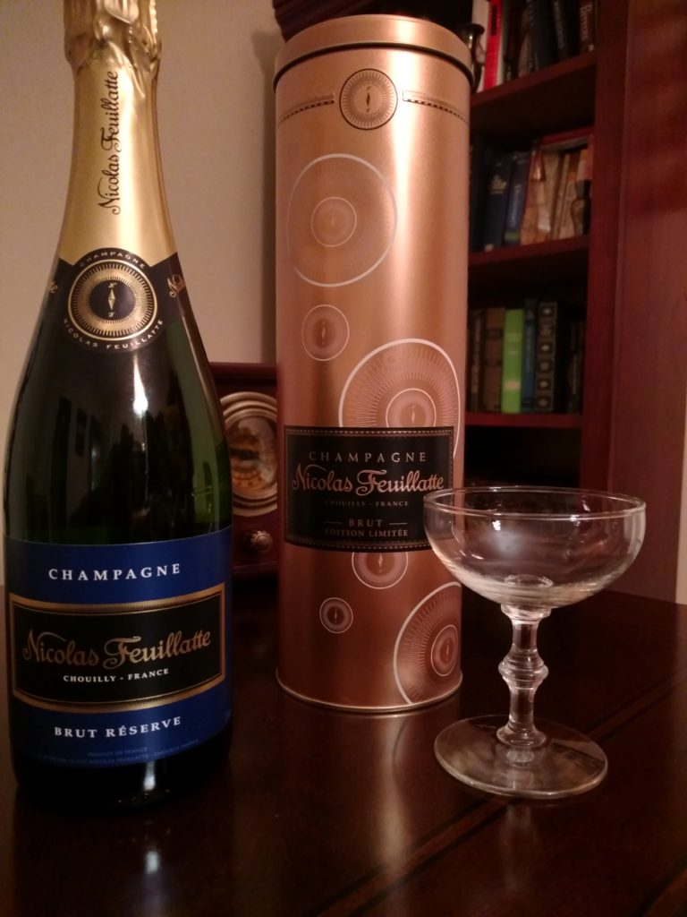 Pictured: Nicolas Feuillatte Brut Reserve Limited Edition bottle.
