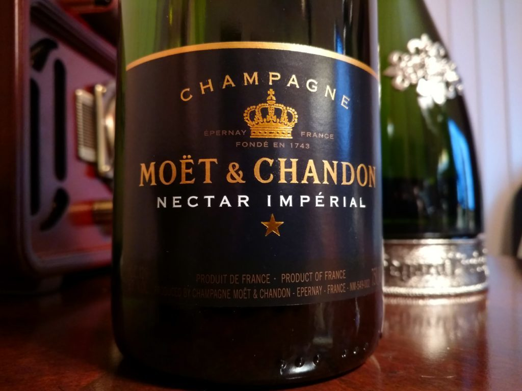 Pictured: Moet & Chandon Nectar Imperial bottle.